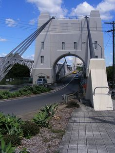 Walter Taylor Bridge, Indooroopilly, Brisbane. until recently people lived in the Towers. It is been up-dated at the moment. They are not sure if it will be used for housing any more. I hope it is. Ever since I was a child I have looked at the Bridge and loved that someones washing was hanging from it.