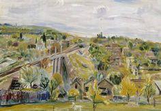 Maisema Meudonista, Colliander, Ina, taiteilija 1930–1939, Ateneumin taidemuseo Museo Finna