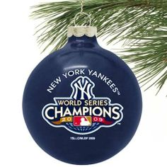 """New York Yankees 2009 World Series Champions Navy Blue 27-Time Champs 3 1/4"""" Large Ornament () by Football Fanatics. $5.99. Decorate your tree with this 27-Time World Series Champ New York Yankees large holiday ornament!Painted detailTeam logo and colorsPre-packaged caseReady to wrapOfficially licensed MLB product. Save 25%!"""
