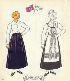 Jolis Costumes: Album a Decouper, Composer, Colorier / eurocolor p16: Norway by pilllpat (agence eureka), via Flickr