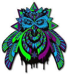 Bass Owl V.2 Pin Bassnectar by Blinkereder, www.blinkreder.com $20.00