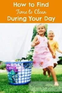 How to Find Time to Clean! (from Not Quite Amish)