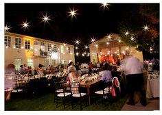 twinkle lights outdoor night wedding