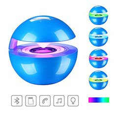 cool Portable Bluetooth Wireless Stereo Speaker with Touch Button LED Light Build-in Microphone Support Hands-free TF Card for Smartphone Computer