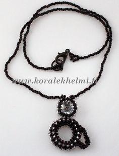 Cat pendant with Swarovski rivoli