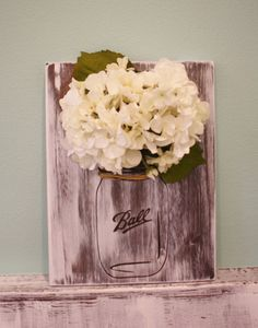 "Mason Jar Decorative Floral ""Ball "" Sign"