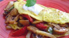 Mushroom Fajita Omelette from Poor Girl Eats Well