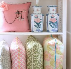 pillows-if i have a girl i'm making that top left pillow. buy the pillow. sew/pin on the rest