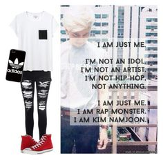 """//Just Namjoon...//"" by vocaloid523 ❤ liked on Polyvore featuring Converse, Glamorous, Each X Other and adidas"