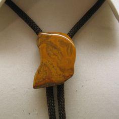 #VogueTeam #ShopEtsy #Vintage 1970s Warm Brown Jasper  Bolo Tie
