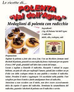 Medaglioni di polenta con radicchio caramellato.