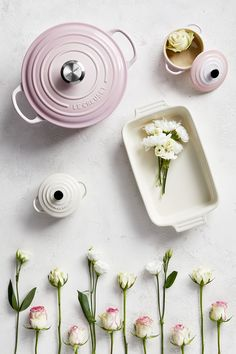 New Shell Pink has been inspired by the soft tones of seashells, capturing the essence of romance and summer sunsets. Add an elegant blush to the kitchen and the home with Shell Pink from Le Creuset, launching in store and online at www.lecreuset.co.za from 14th February 2020. Summer Sunset, Le Creuset, Sea Shells, Food Photography, Product Launch, Stud Earrings, Elegant, Cookware, Sunsets