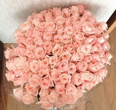 Baby pink roses.
