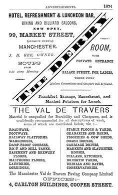 1874 Page of Manchester adverts
