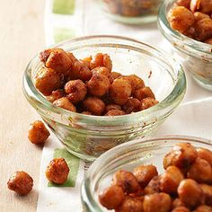 Barbecue Spice Roasted Chickpeas | more healthy game day snacks: http://www.bhg.com/recipes/healthy/snacks/heart-healthy-game-day-snacks/#page=6 #myplate