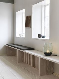 With a bit of imagination the practical installations, like a radiator cover, can be a beautiful addition to your home. Home And Living, Home And Family, Thatched House, Mawa Design, Radiator Cover, Lofts, Interior Inspiration, Home Office, Furniture Design