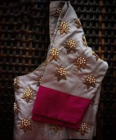Saree or lehanga blouse - Blouse designs Cutwork Blouse Designs, Pattu Saree Blouse Designs, Simple Blouse Designs, Embroidery Neck Designs, Bridal Blouse Designs, Blouse Patterns, Hand Embroidery, Creative Embroidery, Sari Blouse