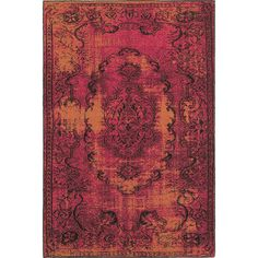 """The Conestoga Trading Co. Renaissance Pink/Yellow Area Rug Size: 1'10"""" x 7'6"""" Runner"""
