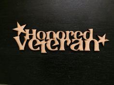 Honored Veteran Wall Art by TimetoHonor on Etsy