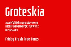Friday Fresh Free Fonts - Groteskia, Building, La Chatte à Maman