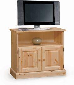 Porta tv in legno massello di pino di svezia complementi rustici - Mobili in pino di svezia ...