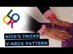 How To Pattern A V-Neck Sweater: Nick's Tricks - YouTube
