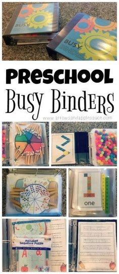 There's non-stop educational fun packed into these preschool busy binders. Tons of activities neatly organized and easily accessible in each busy binder. education Our Homeschool Day: Preschool Busy Binder Preschool Learning Activities, Preschool At Home, Preschool Lessons, Preschool Kindergarten, Infant Activities, Toddler Preschool, Preschool Crafts, Preschool Binder, Preschool Printables