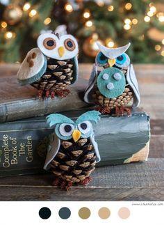 Hiboux De Noël #DIY #Hiboux #DécoNoël #blogDIY #Christmas #christmas ornement #Christmas tree #craft #crafts #handmade #hiboux #Hiboux De Noël #Noël # tutoriel