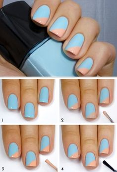 Searching for some great Do It Yourself Nail Art concepts? When it comes to the most effective nail art designs, imagination is your best friend, even if that indicates a smart method to obtain… Cute Nail Art, Nail Art Diy, Easy Nail Art, Diy Nails, Cute Easy Nail Designs, Diy Nail Designs, Cute Simple Nails, Cute Nails, Simple Diy