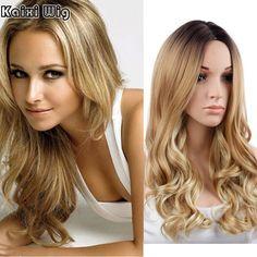 긴 곱슬 금발 가발 26 ''긴 합성 가발 여성 자연 선염 금발 가발 여성 자연 저렴한 섹시한 가발 코스프레
