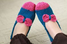 Papuci de casa crosetati de CreativeToday Breslo