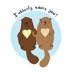 Otters by SamanthaEynon on Etsy