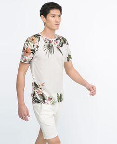Imagem 2 de T-SHIRT FLORES da Zara