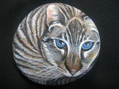 Custom Pet Portraits / Hand Painted Cat on par MeloArtGallery, $75.00