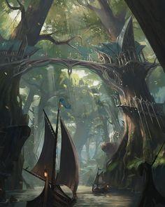 The elven courts Fantasy concept art Fantasy art Fantasy artwork