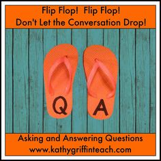 Back to school activity. Use Flip Flops to teach listening, speaking, asking and answering questions #backtoschool #edchat #resources