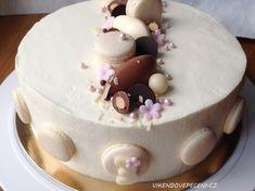 Smetanový dort s hruškami a mléčnou čokoládou - Víkendové pečení Cake Decorating, Cheesecake, Birthday Cake, Baking, Pizza, Cupcakes, Food, Cupcake Cakes, Cheesecakes