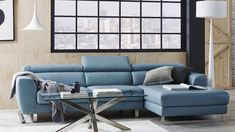 Sink into the cool Samara Leather Sofa, offering an exceptional level of comfort with an integrated chaise, deep seats and adjustable head rests. Upholstered in genuine cowhide leather, the Samara invests a sophisticated seating setting that will look gre