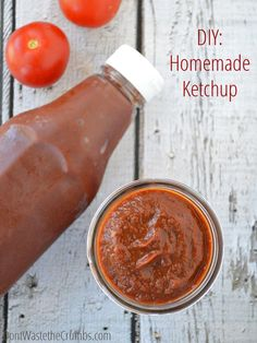 A simple and delicious recipe for homemade ketchup using fresh tomatoes. With a slow cooker, it's incredibly easy and you control the sweetness!