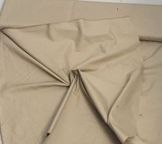 100% Cotton Heavy Cotton Twill, Khaki Brown, a 5 Yard piece, 54 inches wide, amazing quality and weight by PromenadeFabrics on Etsy