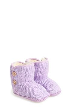 UGG® 'Purl' Knit Bootie (Baby & Walker) available at #Nordstrom