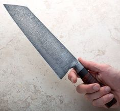 Black paper micarta over birdseye maple liners with satin finished anyone? Another beauty from Don Nguyen is available now. Damascus Chef Knives, Damascus Steel, Shun Cutlery, Shun Knives, Chefs, Birdseye Maple, Chef Knife, Black Paper, Kitchen Knives