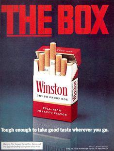 Winston cigarette vintage ad