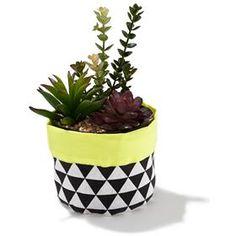 Fabric Planter - Yellow - Kmart - $7.00