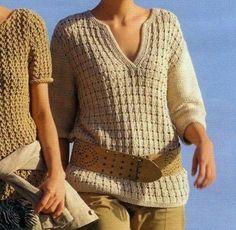 Lavori a maglia per creare una maglietta con scollo a polo