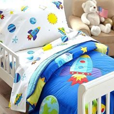 Rocket Ship Bedding Kids Comforters Bed Kid Beds