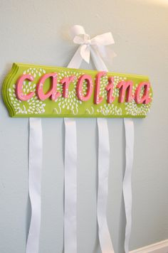 Bow Holder Headband Holder Personalized Starburst. $49.00, via Etsy.
