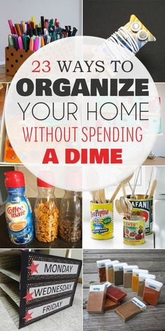 23 Ways to Organize Your Home Without Spending a Dime