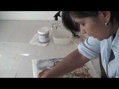 encaustic mono printing with Maria Arvayo