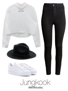 BTS Jap. Ver. Inspired: Jungkook by btsoutfits on Polyvore featuring polyvore, fashion, style, H&M, adidas and clothing